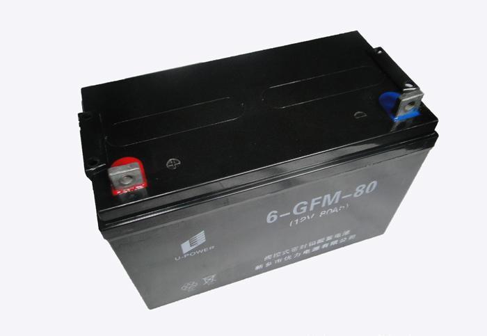 长期优力免维护蓄电池12V80Ah 通信助动车用铅酸蓄电池
