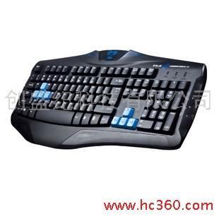 供应e-3lue眼镜蛇键盘 游戏有线键盘 led
