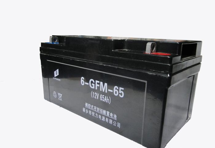 批发太阳能阀控密封铅酸蓄电池12V65Ah  优力电源