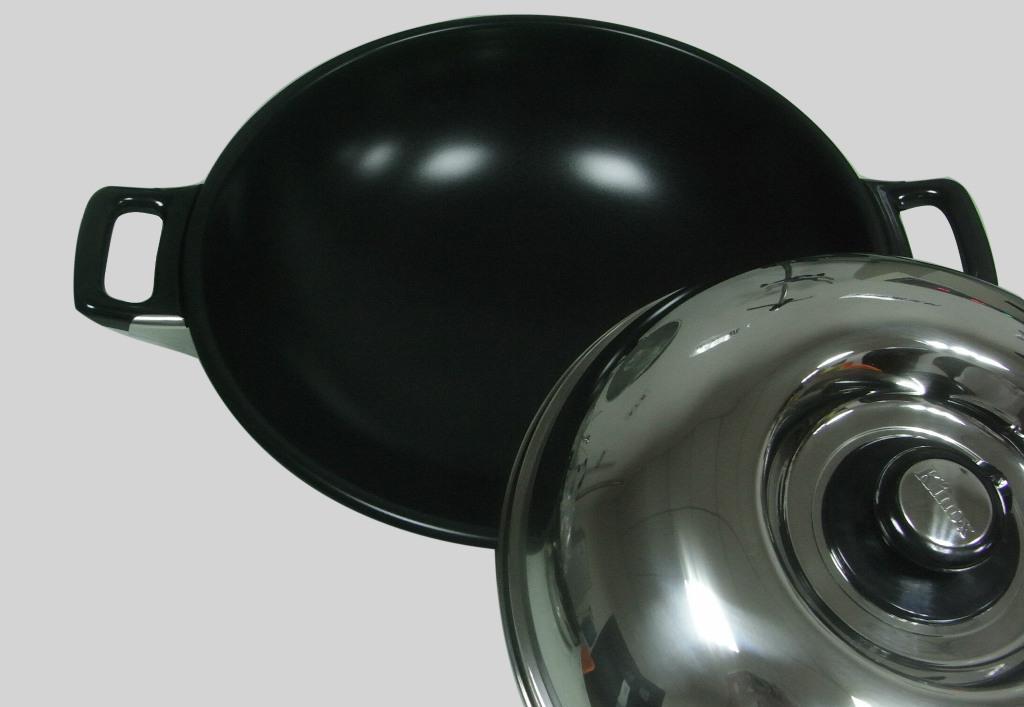 韩国不粘锅无烟锅,金属表面陶瓷涂层,不锈钢喷涂,无烟型,环保