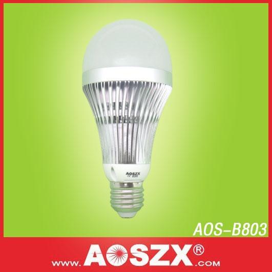 供应节能环保8W球泡灯/8W灯泡/LED球泡灯/LED照明/LED灯泡