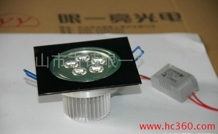 LED大功率天花灯射灯 高亮度 节能环保 7W拉丝黑