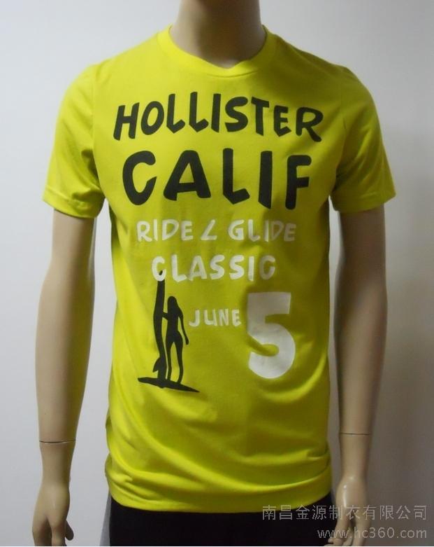 供应加供男士短袖英文时尚印花t恤服装