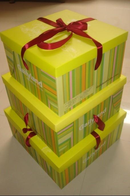 供应金典各种蛋糕盒 蛋糕盒设计 两件套加丝带方盒 13213108295